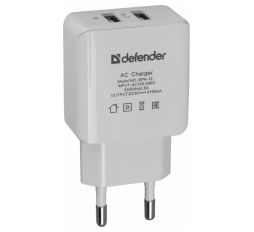 Slika proizvoda: Defender Technology ADAPTER EPA-12, 2 port USB, 5V/2A, polybag
