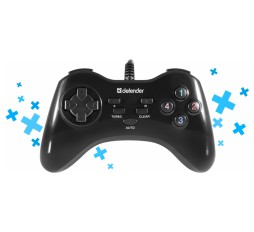 Slika proizvoda: Defender Technology Dzojstik GAME MASTER G2, Wired gamepad, USB, 13 buttons