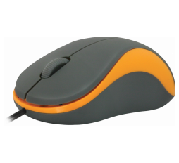 Slika proizvoda: Defender Technology MIŠ Accura MS-970, Wired optical mouse, grey+orange,3 buttons,1000dpi