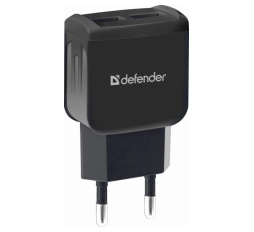 Slika proizvoda: Defender Technology Punjač UPC-23, AC line adapter, 2x USB, 5V/2.1A, Type-C cable