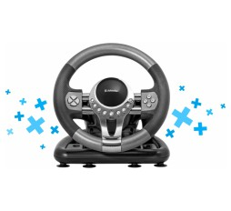 Slika proizvoda: Defender Technology Volan Forsage GTR, Gaming wheel, USB, 12 buttons, gear stick