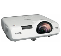 Slika proizvoda: Epson Projektor EB-535W Short-throw WXGA 3400 ANSI, 1280 x 800, 16:10, 16,000 : 1, USB 2.0 Type A, USB 2.0 Type B, RS-232C, Wired Network, Wireless LAN IEEE 802.11b/g/n (WiFi 4) (optional), VGA in (2x), VGA out, HDMI in, Composite in, Component in (2x), S-Video in, Stereo mini jack audio out, Stereo mini jack audio in (2x), Microphone input, Cinch audio in